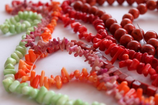 natural coral, koral naturalny, handmade jewellery, robienie biżuterii, beads