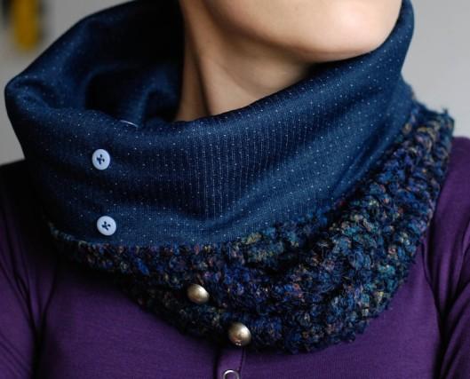 komin, making clothes, sewing, szalik komin, szycie, szycie ubrań, funnel scarf, handmade