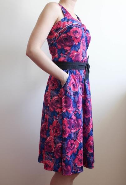 szycie, szycie na maszynie, szycie ubran, blog o szyciu, retro sukienka, sewing
