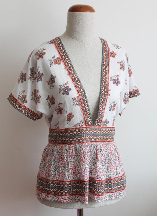 szycie, szycie na maszynie, szycie ubran, blog o szyciu, folkowy top, sewing, making clothes